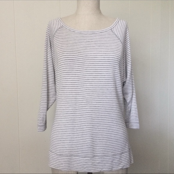 Beyond Yoga Sweaters - Beyond Yoga Stripe 3/4 Knit Top